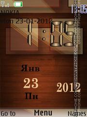Wooden Clock theme screenshot