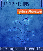 Blue Abstract 01 theme screenshot