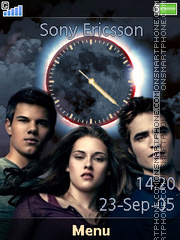 Twilight Eclipse Clock es el tema de pantalla