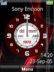 Red Clock 01 es el tema de pantalla