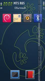 Geek theme screenshot