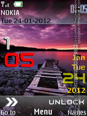Iphone 5 Sunset theme screenshot