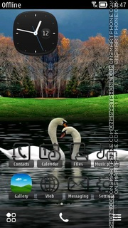 Swans Love theme screenshot