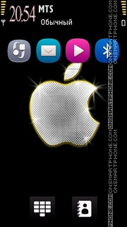 Diamond Apple theme screenshot