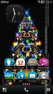 Black christmas 01 theme screenshot