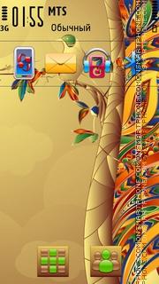 Bird on tree theme screenshot