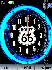 Route 66 Clock theme screenshot