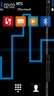 Neon of Lights Blue theme screenshot