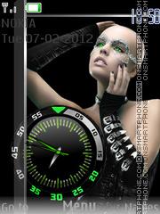 Girl And Clock theme screenshot