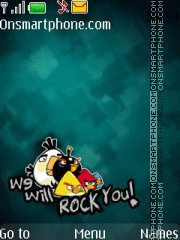 We Will Rock - Angry Birds theme screenshot