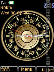 Zodiac Clock 02 theme screenshot