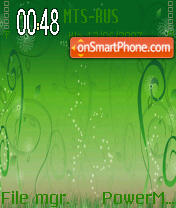Green Abstract es el tema de pantalla