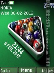 Billiard Clock 01 theme screenshot