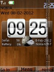 Wood Clock 01 theme screenshot