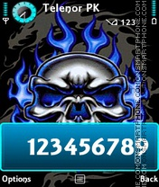 Blue Skull theme screenshot