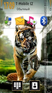 Robot Tiger theme screenshot