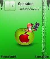 Apple by amjad es el tema de pantalla
