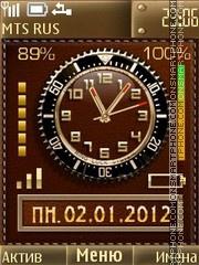 Leather Clock es el tema de pantalla