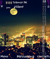 Golden city theme screenshot