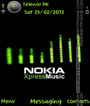 Green Xpressmusic es el tema de pantalla