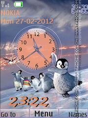 Funny piguins theme screenshot