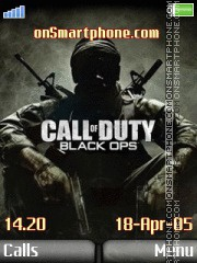 Call of duty black ops es el tema de pantalla