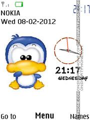 Cute Duck Clock 01 theme screenshot