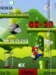 Mario theme screenshot