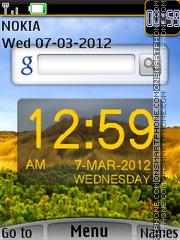 Google With Clock theme screenshot