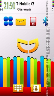 Rainbow tehk s60 v5 theme screenshot