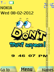 Cartoon Bob Clock theme screenshot