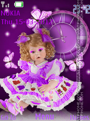 Doll Clock theme screenshot