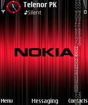 Nokia Red black es el tema de pantalla