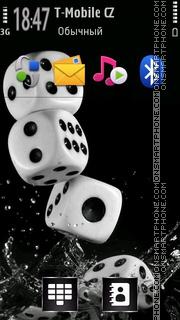 Water Dice theme screenshot