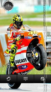 Valentino Rossi Ducati tema screenshot