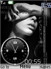 Black White Clock theme screenshot