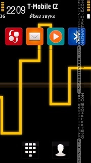 Neon of Lights Yellow theme screenshot