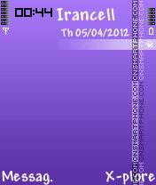 Nice Violet Theme es el tema de pantalla