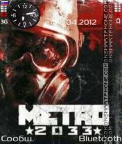 Metro 2033 theme screenshot