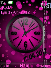 The pink theme screenshot