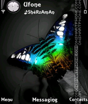 Black Butterfly theme screenshot