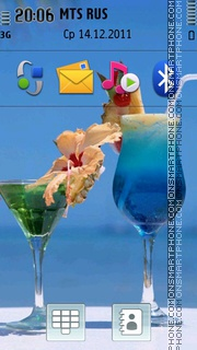 Summer Cocktail 01 theme screenshot
