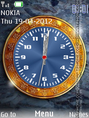 Super Shine Clock theme screenshot