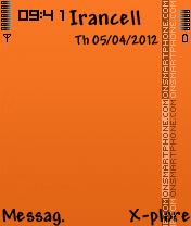 Nice Orange es el tema de pantalla