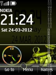 Counter Strike Clock theme screenshot