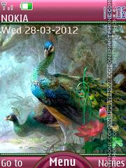 Majestic peacock es el tema de pantalla