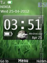 Green Desire Clock theme screenshot