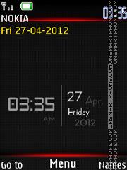 Hd Graphics Clock theme screenshot