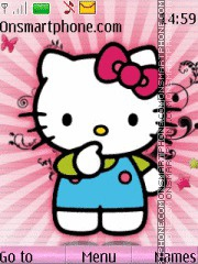 Hello Kitty With Ringtone es el tema de pantalla