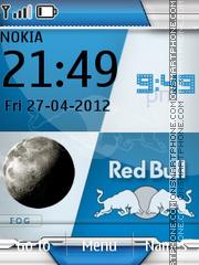 Redbull And Clock es el tema de pantalla